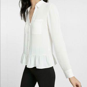 Express portofino shirt w/ ruffles
